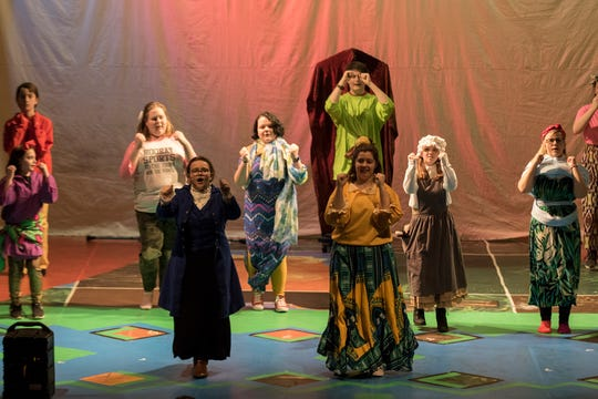 """Students from Coshocton High School rehearse for their school musical, """"A Little Princess."""""""