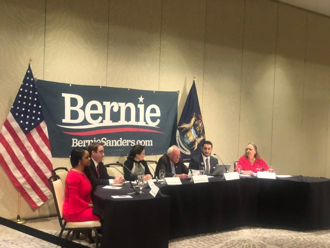 On the eve of Michigan's primary election, Vermont Sen. Bernie Sanders halted his campaign to host a public health round-table at the Westin Hotel at Detroit Metro Airport, focusing primarily on the global coronavirus outbreak.