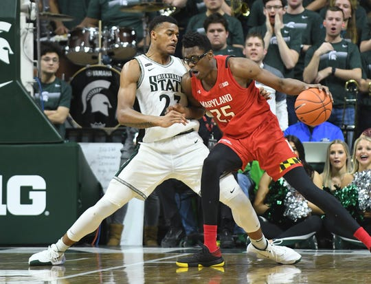 Michigan State forward Xavier Tillman (23) was named the Big Ten Defensive Player of the Year.
