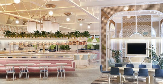 Rendering of the dining room of Sauce, set to open this spring in Midtown.