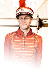"""Robbie Lindmark, of Bath, stars as Harold Hill in Family Life's upcoming production of """"The Music Man."""""""