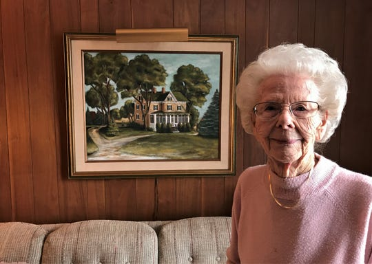 Catherine Krail's historic home on Rienzi Road has been in the family for more than 100 years. A roundabout scheduled for construction this summer will take out many trees on her property, as well as a small piece of land.