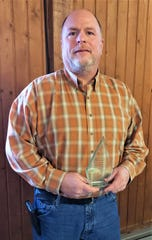 Matt Hofelich was presented the 2020 Sandusky County Agricultural Service Award on March 6.