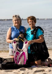 Sandy Canning and Carmela Donegan are longtime members of the Caloosa Dive Club.