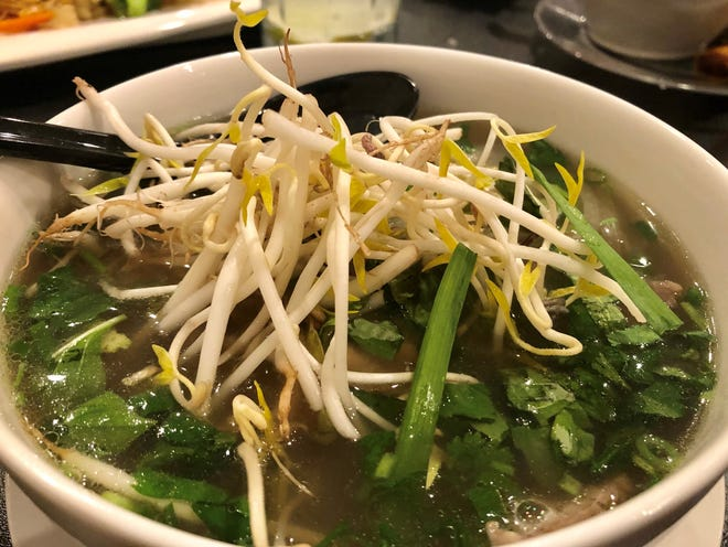 A bowl of pho with flank steak and tenderloin from Pho King on College Parkway in south Fort Myers.