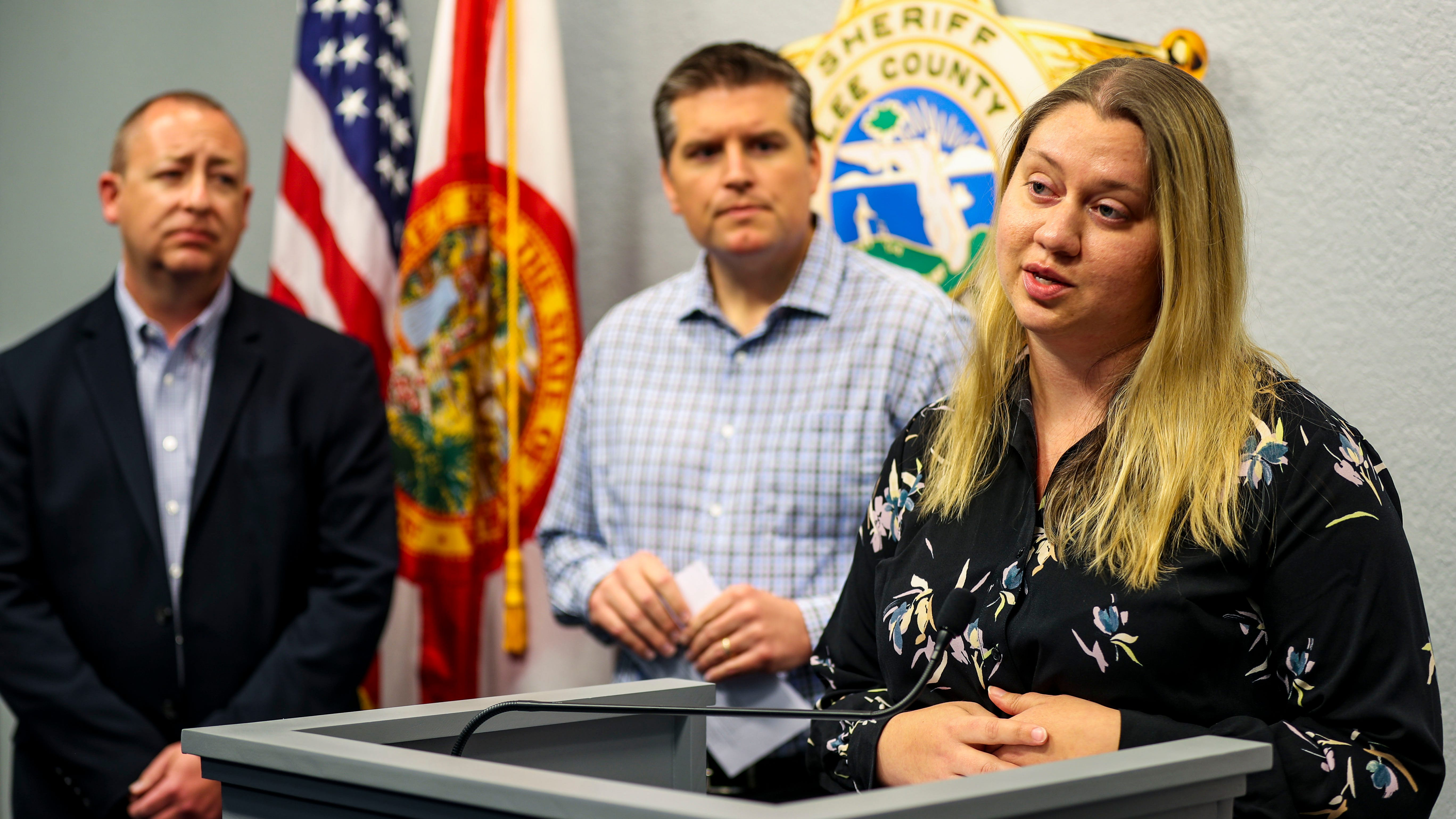 During a springtime press conference on COVID-19, Jennifer Roth, biological administrator from the Lee County Health Department, spoke about working with the CDC when cases are found in the county. This week she spoke of holiday safety during a press conference at the Lee County school district.