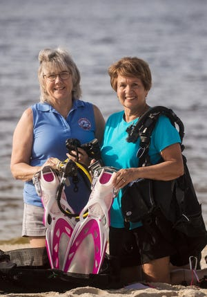 Sandy Canning and Carmela Donegan are longtime members of the Caloosa Dive Club and current co-chairs of the photo competition. The club, which is based out of Cape Coral, is celebrating 50 years.