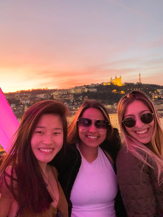 Lia Stone, left, had to abruptly leave her study abroad program in Lyon, France amid the coronavirus outbreak worldwide. Stone was among the 385 students and faculty to be recalled home by Clemson University on March 2, 2020.