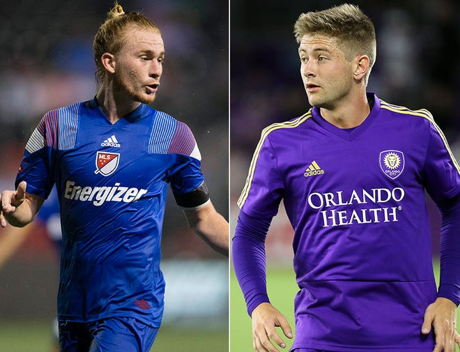 Andrew Carleton (left) and Cam Lindley (right) hope a good season with Indy Eleven could propel them both back to MLS.