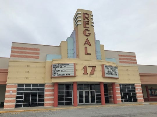 Regal Village Park theater complex at 2222 E 146th St. in Westfield, Ind. on March 9, 2020. The movie theater complex first opened in 1993 and it will get its first major renovation in decades this Spring.