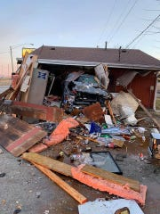 An F-150 driven by Michael Stowers, 23, of Valparaiso, crashed through Brookston Spirits, a liquor store on Indiana 43 on the north side of the White County town, Sunday morning, March 8, 2020, Indiana State Police reported.