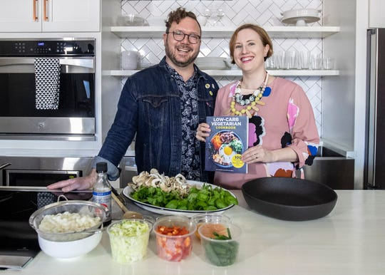 Justin Fox Burks and Amy Lawrence in their kitchen in Downtown Memphis on Friday, March 6, 2020.