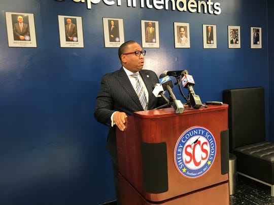 SCS Superintendent Joris Ray joined the health department for a press conference Monday afternoon, after the district announced an employee in quarantine. The employee poses no risk to the public, according to the health department, and schools will remain open, the district said Monday.