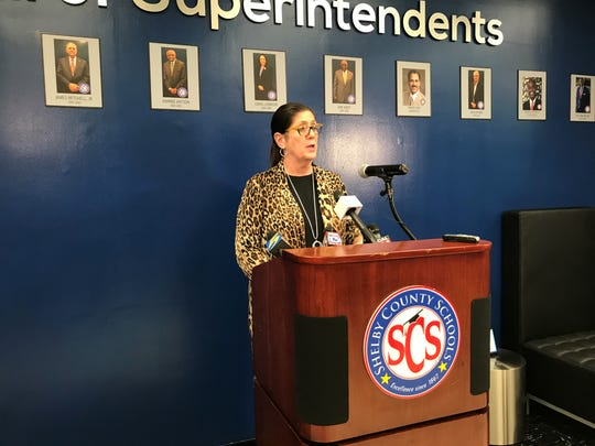 Alisa Haushalter, director of the Shelby County Health Department, joined Shelby County Schools for a press conference Monday afternoon, after the district announced an employee in quarantine. The employee poses no risk to the public, according to the health department, and schools will remain open, the district said Monday.