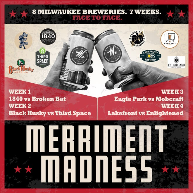 A burger-and-beer bracket at Merriment Social in Walker's Point ultimately will benefit charities chosen by the Milwaukee breweries competing.