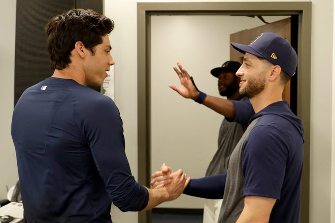 Christian Yelich sought Ryan Braun's advice when he started to think about a contract extensionb with the Brewers.