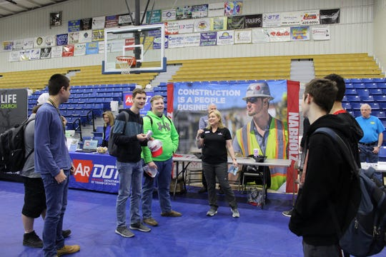 Mountain Home High School students met with representatives from more than 50 area businesses and groups at the 4th annual Career Expo on March 6 at the high school gymnasium. The event was open to seniors, juniors and sophomores and allowed students to learn about future career choices in the health, technical and trade fields.