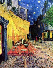 """""""Cafe Terrace at Night"""" by Vincent Van Gogh is the inspiration for sets and costumes for the Barbara B. Mann Performing Arts Hall debut of Gulfshore Opera."""