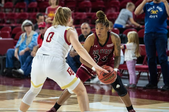 New Mexico State senior guard was named to the All WAC first team this week.