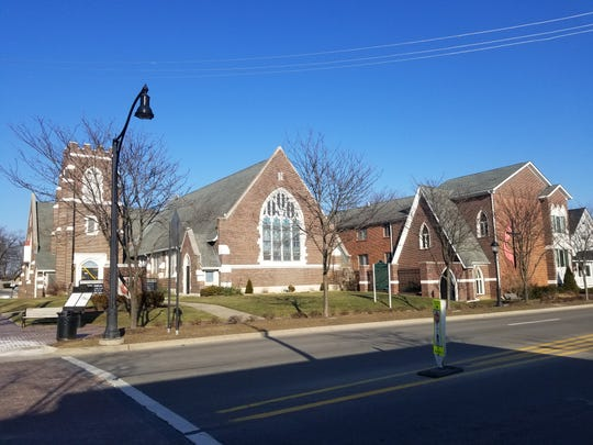 The First United Methodist Church of Farmington as it looks today, on Grand River Avenue.