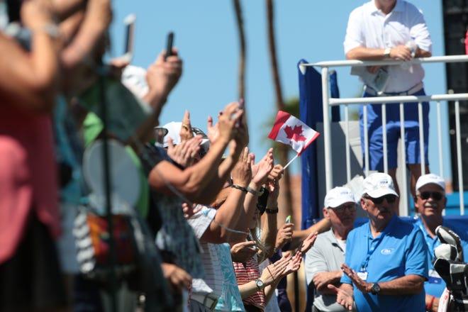 Fans gather at the Indian Wells Tennis Garden for a previous BNP Paribas Open.