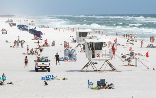 Casino Beach in Pensacola on Monday, March, 9, 2020.