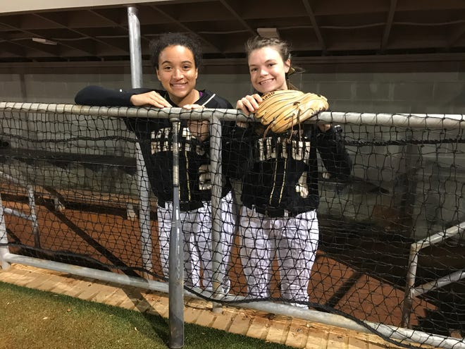 Milton softball is relying on key leadership from (L to R) Amanda Reeves and Haley Brown. The Panthers are young overall this year and start a variety of freshman.
