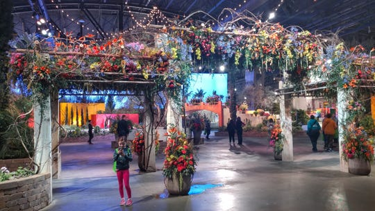 Breathtaking, colorful and fragrant flower-laden trellises greet visitors as they enter the Philadelphia Flower Show.