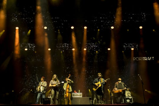 Greensky Bluegrass performs at the McDowell Mountain Music Festival at Margaret T. Hance park in Phoenix, Ariz. on March 8, 2020.