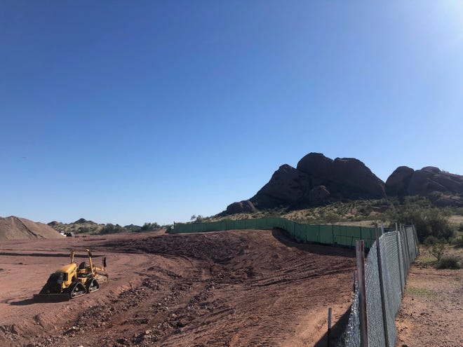 An updated Papago Baseball Complex will be fully operational for the San Francisco Giants by early 2021. For now, leveled land and construction is a concern for residents, in addition to an expanding construction line pictured Feb. 25, 2020.