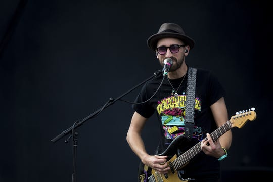 Aqueous perform at the McDowell Mountain Music Festival at Margaret T. Hance park in Phoenix on March 8, 2020.
