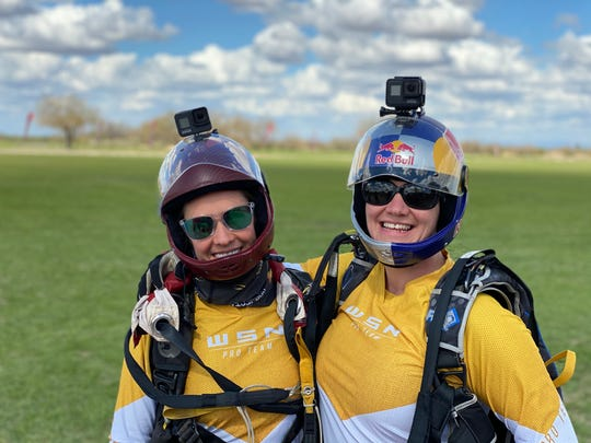 Sara Curtis and Amy Chmelecki, professional skydivers in Eloy and Project 19 co-founders, are training women at Skydive Arizona to participate in an unprecedented jump to mark the 100th anniversary of women's right to vote.
