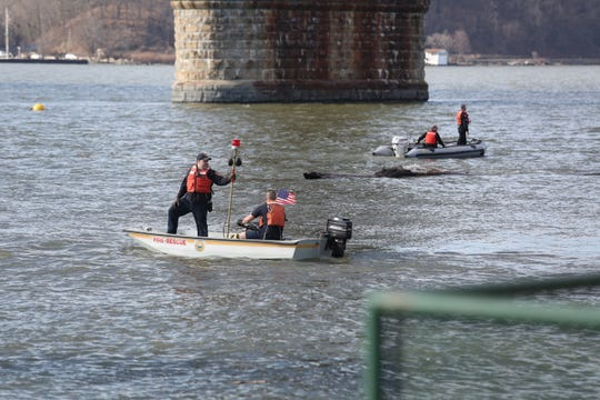 Police deployed boats and a helicopter after a Hudson River swimmer went missing off the Poughkeepsie coast: on March 9, 2020.
