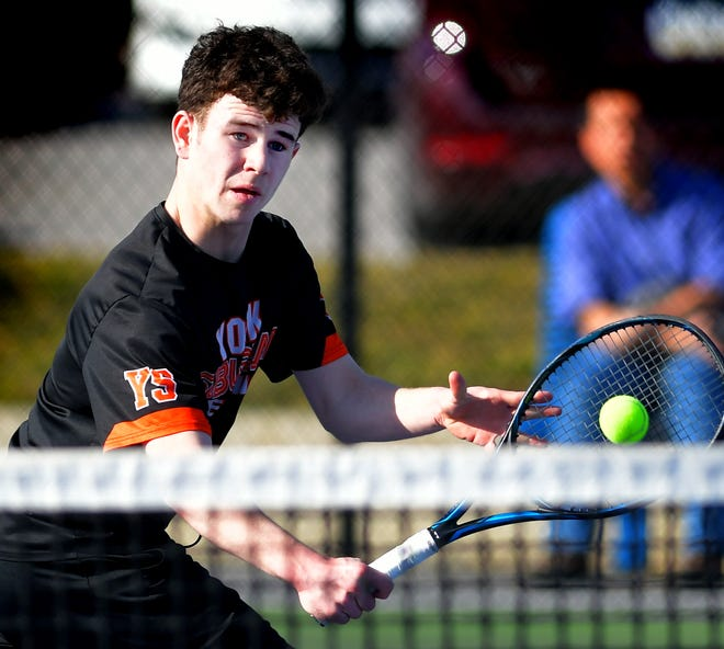 York Suburban's Parker Lando is the No. 1 seed in the York-Adams League Class 3-A Boys' Tennis Singles Tournament.
