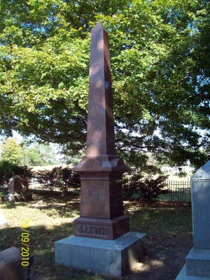 Revolutionary War veteran John Lewis is buried in the family cemetery on the old Lewis farm south of Williamsburg. His grave may be seen on the Morrisson-Reeves Library website, along with other Revolutionary War veterans buried in Wayne County, at mrlinfo.org. Image courtesy of Duane Reed.