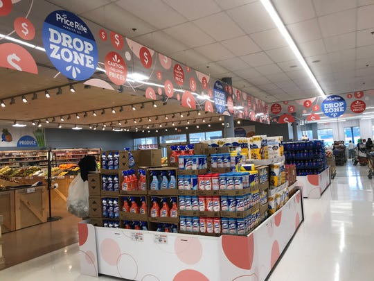 """The new """"Drop Zone"""" inside Price Rite on University Avenue in Rochester. The store has refreshed its interior and its offerings."""