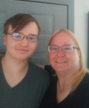 Haven Brannan, 16, and his mother Kelly Brannan.