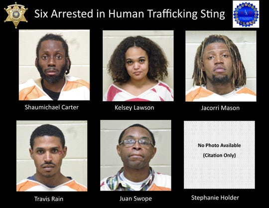 Six people were arrested during a human trafficking sting in Bossier. The operation was conducted on Friday, March 6, 2020.