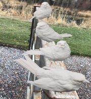 Political Poles by Eric Thorsen is one of the 2020 Sioux Falls SculptureWalk pieces.