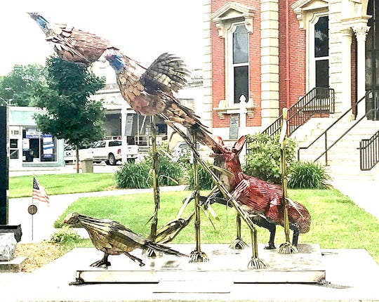 Narrow Escape by Gary Hovey is one of the 2020 SculptureWalk entries.