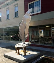 Quill II by Dan Perry is one of the 2020 SculptureWalk entries.