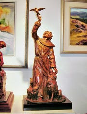 St. Francis by Bobbie Carlyle is one of the 2020 SculptureWalk entries.