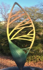 Boxelder Seed II by Nathan Johansen is one of the 2020 Sioux Falls SculptureWalk pieces.