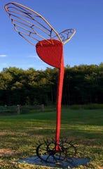 Free Flight by David Skora is one of the 2020 Sioux Falls SculptureWalk pieces.