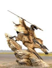 Wind Spirit by Jerry McKellar is one of the 2020 SculptureWalk entries.