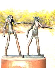 Eagle Dancers by Robert Brubaker is one of the 2020 SculptureWalk entries.