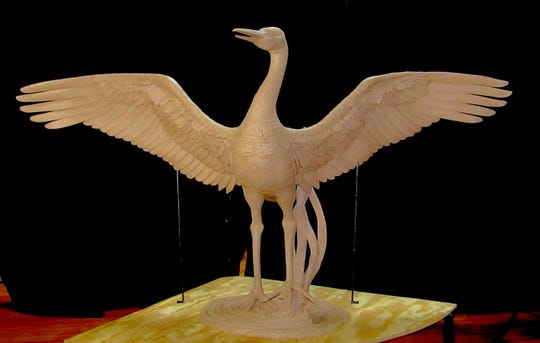 Song of the Sandhill by Sondra Johnson is one of the 2020 SculptureWalk entries.