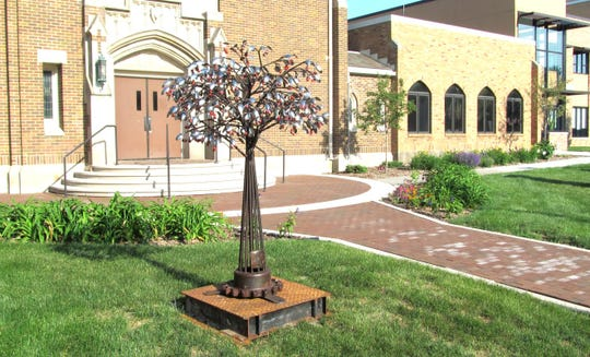 Cherry Tree by Dale Lewis is one of the 2020 SculptureWalk entries.