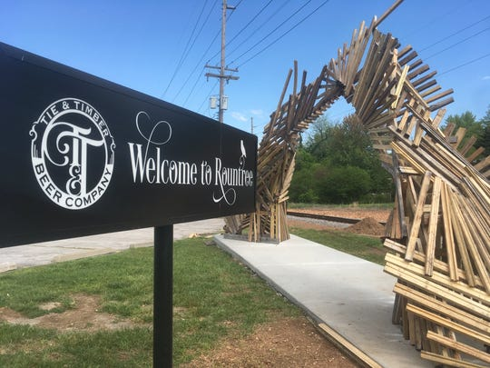 """Portal #5"" by Gabe Meyer and Jared Zillig was incorporated into the Sculpture Walk collection and quickly became the ""landmark gateway into the Rountree Neighborhood,"" a news release said."