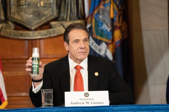 Gov. Andrew Cuomo announced March 9, 2020, that New York will make its own hand sanitizer, NYS Clean, using prison workers to fend off a shortage due to coronavirus.